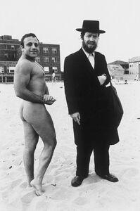 Hassid & Jewish Bodybuilder, Coney Island, NY