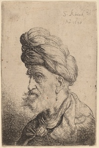 Bust of a Man with a Turban Facing Left