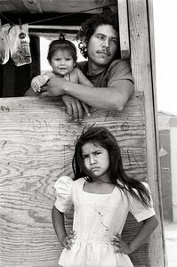 Child with Father and Sister, Colonia, Nuevo Laredo Mexico, April 19, 1993