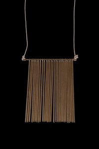 Unique fringe pendant with 28 rods