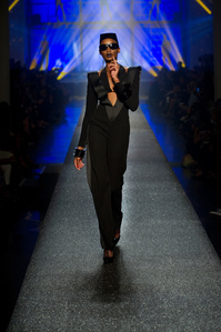 One of the designs in Jean Paul Gaultier's women's ready-to-wear spring-summer collection of 2013