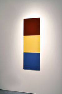 Untitled (purple red, sulfur yellow, azure blue)