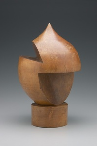 Turned Wood (Sculpture Sculpture en bois tourne)