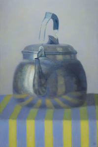Kettle on Yellow Stripes