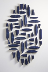 Wall Pillows Blue Oval I