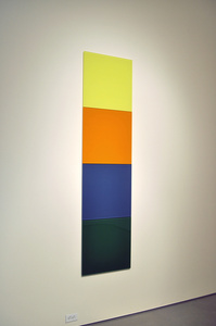 Untitled (lemon yellow, yellow orange, azure blue, leaf green)