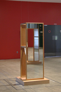 Josiah McElheny: Two Walking Mirrors for the Carpenter Center