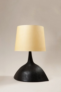 A black finish ceramic lamp
