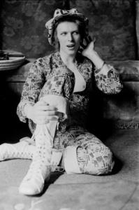 David Bowie, at his home Haddon Hall, Kent, UK