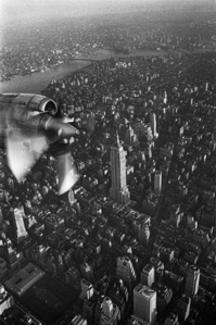 Empire State building aerial view, New York City, New York,  Manhattan, New York City, NY - May 21, 1969