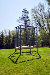 Untitled (Suspended log)