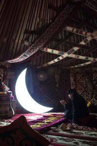 Private Moon in Yurt