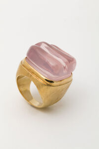 Gold and Pink Quartz Ring