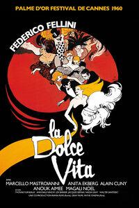 La Dolce Vita - Federico Fellini - Movie poster
