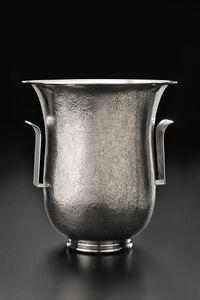 Art Deco Hammered Vase