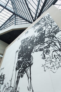 """Ink Painting, Installation, Architecture and Theory view, """"Pan Gongkai: Dispersion and Generation"""" at Zhejiang Art Museum"""
