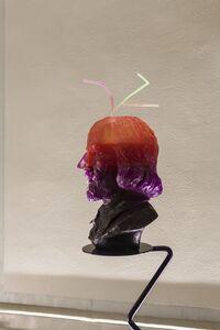 Half-Drunk Purple-Orange Shakespeare (with Teeth & 3 Straws)