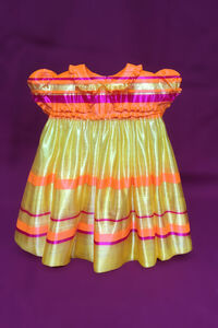 Yellow Striped 50's Baby Dress