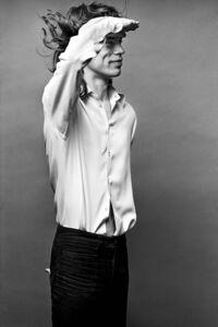 Mick Saluting, Mick Jagger, Los Angeles