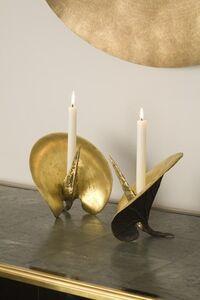 Pair of Feuille de Chou Candlesticks