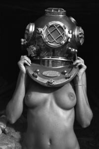 Diver UP. Original photograph