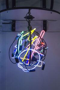 Pushing Ball, Neon Globe