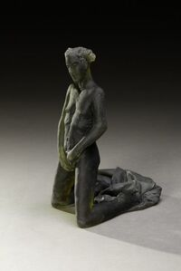 Untitled Scheile Figure (variation/kneeling with garment)