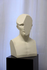 Traccia X, modified plaster bust of Napoleone