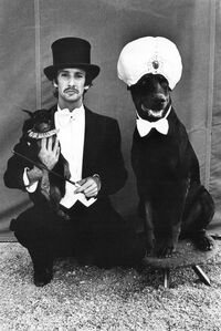 Lloyd Steir and Dogs at the Big Apple Circus, NY