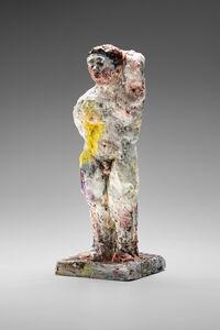 Statue (yellow splash)