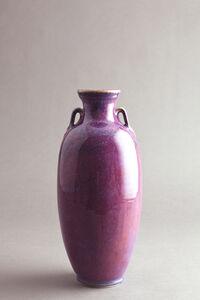 Mise vase, purple passion glaze