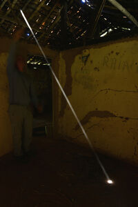 Dust Swept and thrown to reveal a shaft of light Ibitipoca, Brazil 12 September 2014