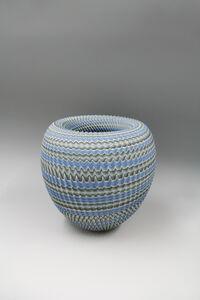 Ridged Neriage (marbleized) bowl 'Chasm'