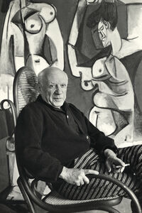 Picasso in rocking chair