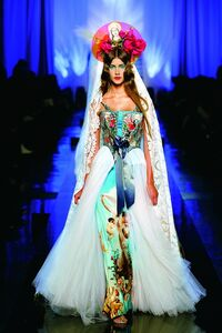 """""""Apparitions"""" gown from Jean Paul Gaultier's """"Virgins (or Madonnas)"""" women's haute couture spring-summer collection of 2007"""