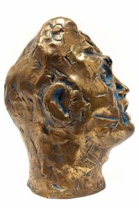 Untitled, Head Of An Artist, Avant-Garde Bronze Sculpture