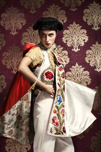 Portrait of Young Woman in Matador Costume