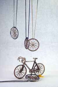 BIKE WHEEL pendants