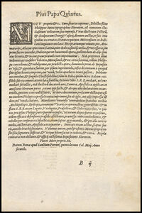 Page titled Pius Papa Quintus