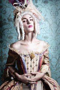 Portrait of Woman Dressed as Marie Antoinette