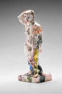 Statue (standing, arm raised)