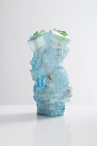Unique vessel in hand-blown, cut and polished glass. Designed and made by Thaddeus Wolfe, USA, 2016.