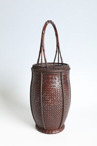 Flower Basket with Natural Bamboo Handle (T-2293)