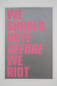 WE SHOULD VOTE BEFORE WE RIOT