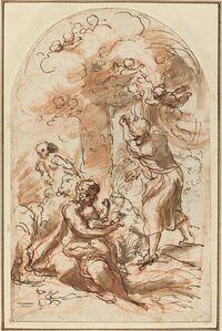 """Study for the """"Madonna della Scodella"""" [recto]"""