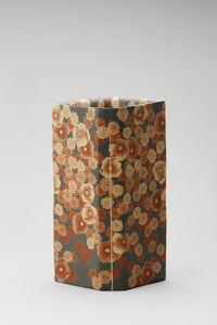 Mumyōi Neriage; Square Jar with Flower Patterns