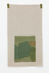 Grayish green, rhubarb-dyed blue-green, yellow-green, lichen-dyed light brown