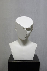 Traccia Ⅴ, modified plaster bust of Lucio Cesare