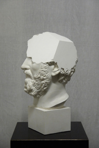 Traccia IV, modified plaster bust of Settimio Severo