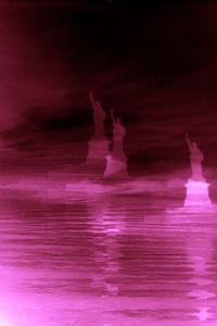 Dark Red Lady Liberty